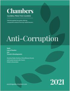 Estado anticorrupción España 2021